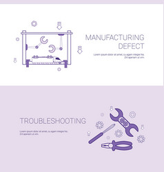 Manufacturing defect and troubleshooting concept vector