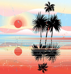 Marine tropical landscape vector