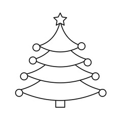 Merry christmas pine tree vector