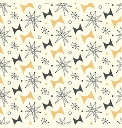 Mid century modern seamless pattern vector