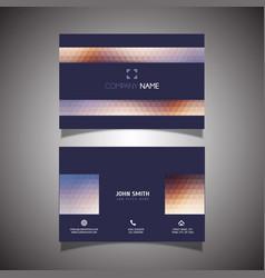 modern low poly business card design vector image