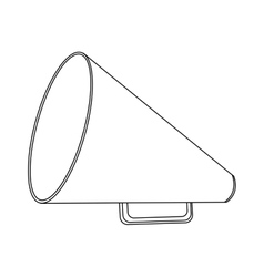 Monochrome contour with megaphone close up vector