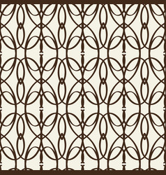 Monochrome decorative intricate trellis vector