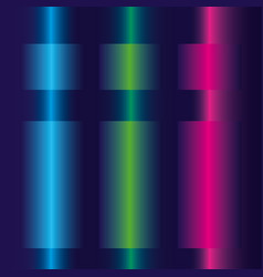 Neon blue green and pink lines design vector