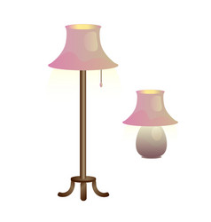 nice lamps vector image