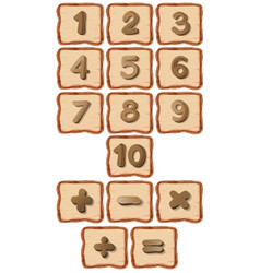 Number on wooden board vector