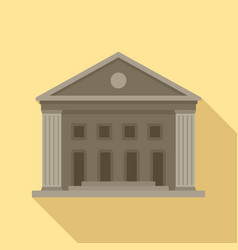 old courthouse icon flat style vector image