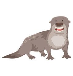 otter cartoon animal character vector image