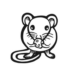 painted mouse vector image