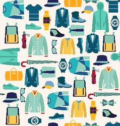 pattern fashionable mens wear man fashion vector image
