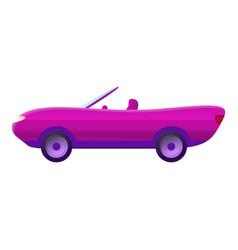 Pink cabriolet icon cartoon style vector