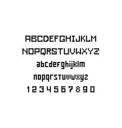 Pixel font vector