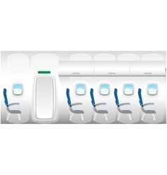 plane - jet interior with seats vector image