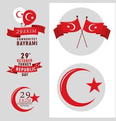 Republic turkey celebration vector
