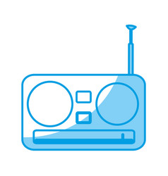 Retro radio icon vector
