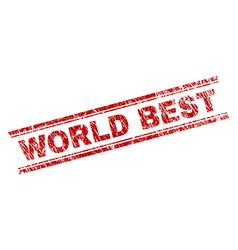 Scratched textured world best stamp seal vector