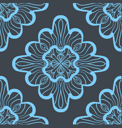 seamless geometric pattern with bright blue vector image