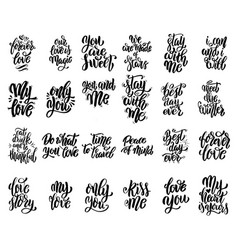 set hand written lettering motivational quotes vector image