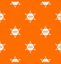 Sheriff badge pattern seamless vector