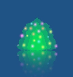 Single Illuminated Christmas Tree vector