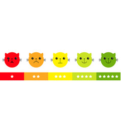 Smiley cat kitten kitty face satisfaction emoticon vector