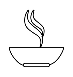 soup dish isolated icon vector image