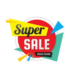 super sale - creative banner vector image