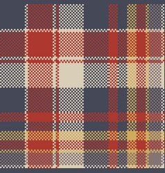 Tartan coarse fabric texture seamless pattern vector