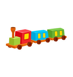 train toy colorful isolated vector image