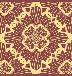 Wallpaper in abstract style a seamless yellow vector