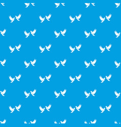wedding doves pattern seamless blue vector image