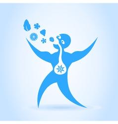 Blue men vector image