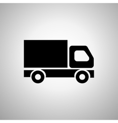 Delivery Truck icon on a light background vector image