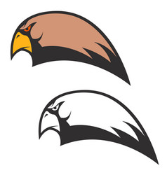 eagle head icon isolated on white background vector image vector image