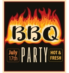 in the fire BBQ vector image vector image