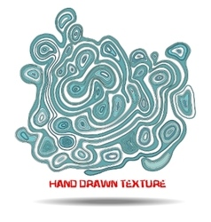 Ink hand drawn texture psychedelic blue wave vector