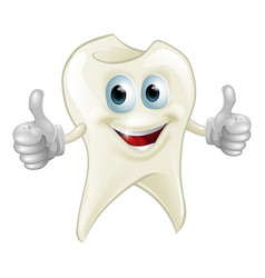 smiling tooth mascot vector image