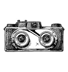 stereo camera vector image