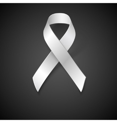 Awareness White Ribbon vector image vector image