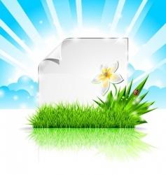 background design on a spring vector image