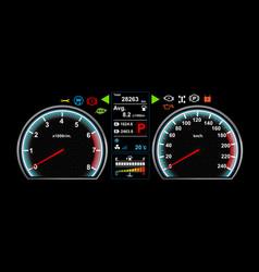 car dash board eps 10 vector image