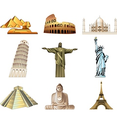 icons wonders vector image