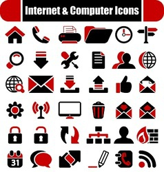 Internet Computers Icons vector image