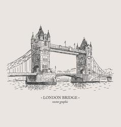london bridge vintage vector image vector image
