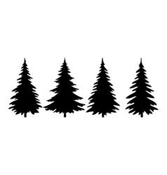 Christmas Trees Pictogram Set vector image
