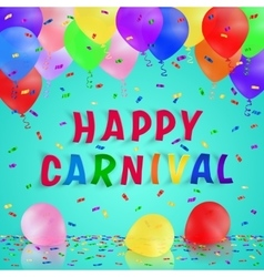 Colorful handmade typography words carnival vector