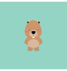 Cute Cartoon beaver vector image