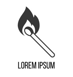 match icon with flame vector image