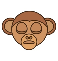 monkey head face isolated icon vector image vector image