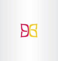 ninety six 96 number 9 and 6 logo icon vector image